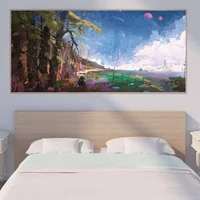 landscape oil painting fairy tale world tree castle art canvas painting living room corridor office home decoration mural