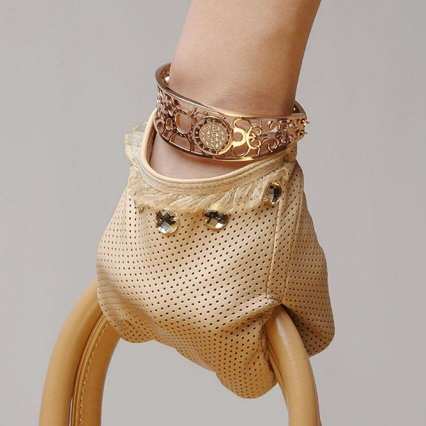 Перчатки из натуральной кожи женские Демисезонный тонкие подкладки для вождения из натуральной кожи, женские ботинки из овечьей кожи; Перч...