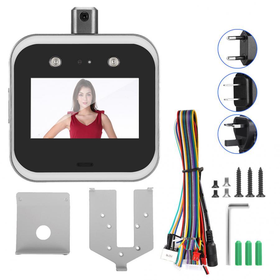 Caméra de reconnaissance faciale 5po TCP/IP Wifi   Horloge, contrôle daccès, détecteur de température corporelle 100-240V, nouveau
