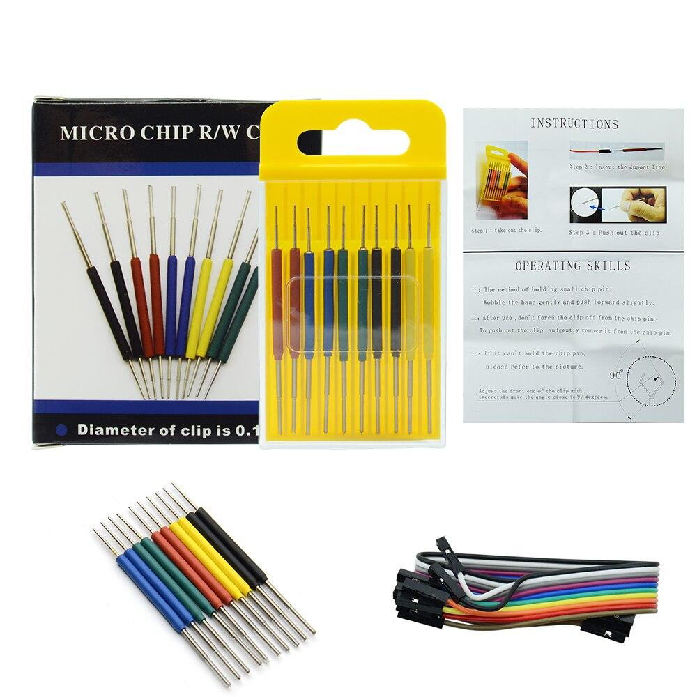 10 sztuk/zestaw Micro IC zacisk SOP/SOIC/TSSOP/TSOP/SSOP/MSOP/PLCC/QFP /TQFP/LQFP/ SMD IC test chip pin mini chipy adapter gniazdo