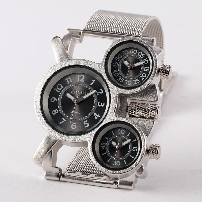 Мужские часы OULM 1167 Overize, мужские стальные нержавеющие часы, мужские часы от бренда Erkek Saat Relogio Masculino, оригинальные мужские часы