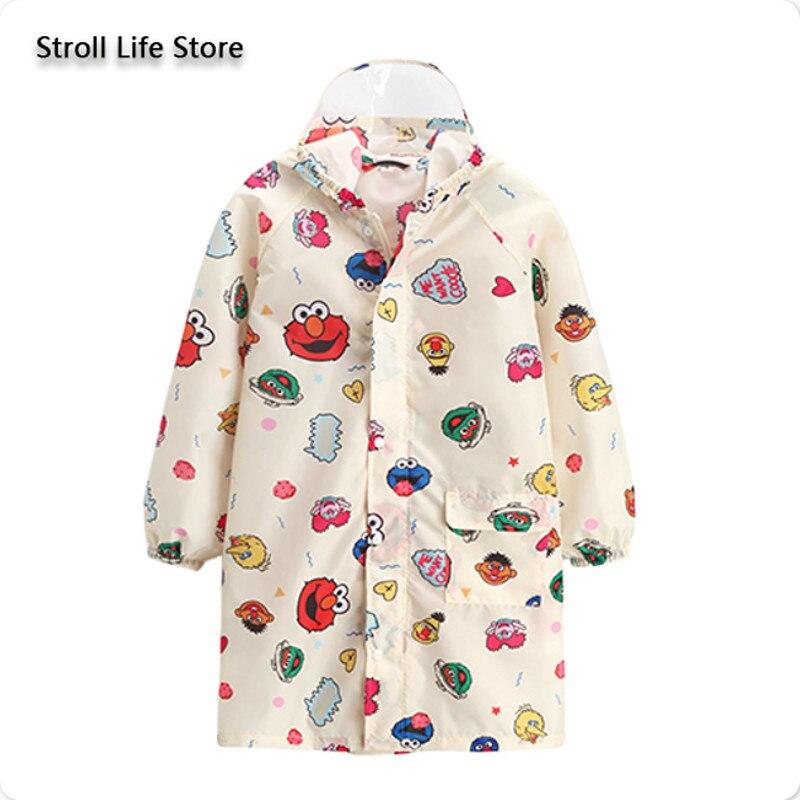 Милый дождевик с героями мультфильмов, детское пончо для мальчиков с сумкой, тонкое длинное пончо для дождя, детская синяя куртка, подарок ...