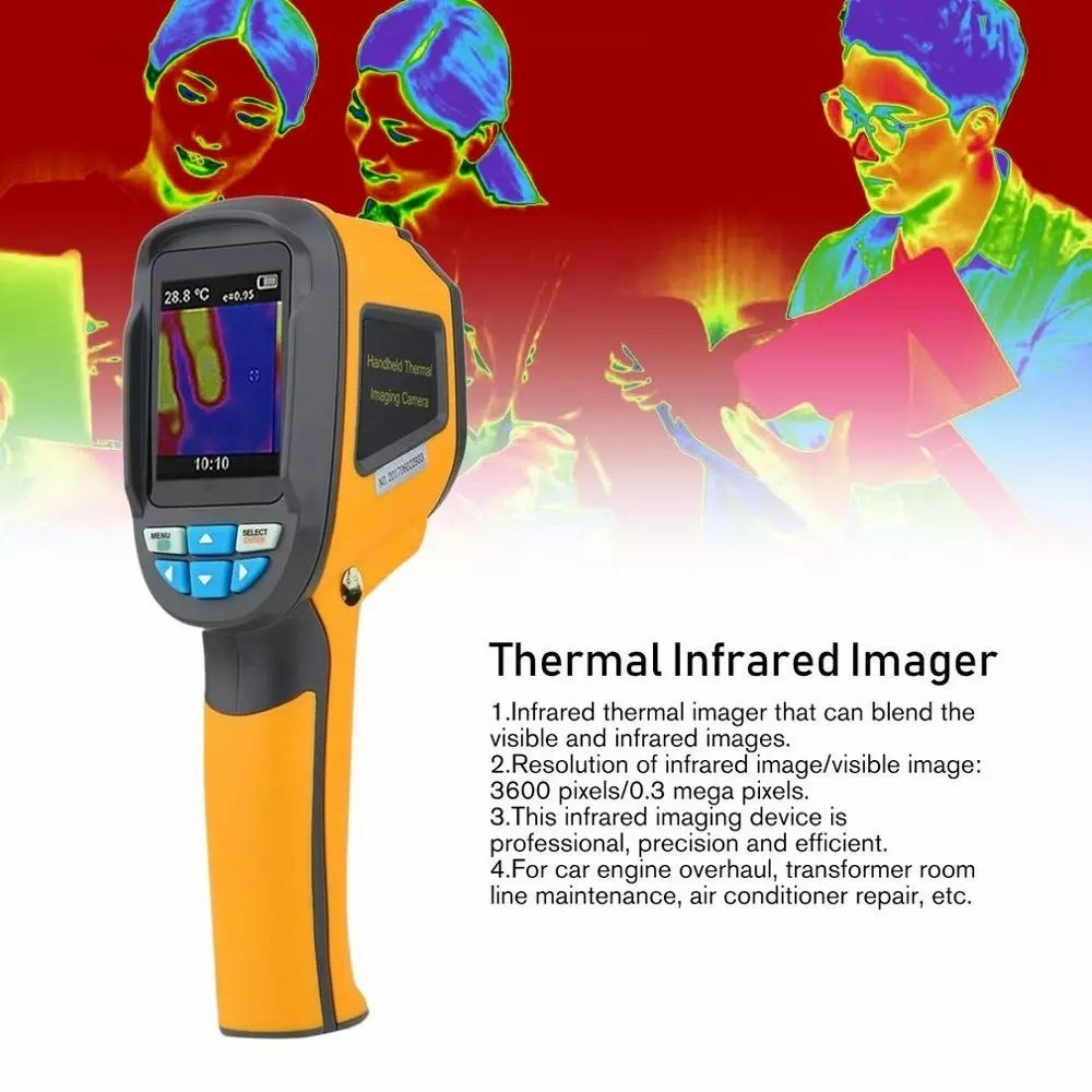Câmera de Imagem Definição de Imagem Ht-02d de Alta Precisão Handheld Térmica Medidor Digital Infravermelho Instrumento Temperatura ir
