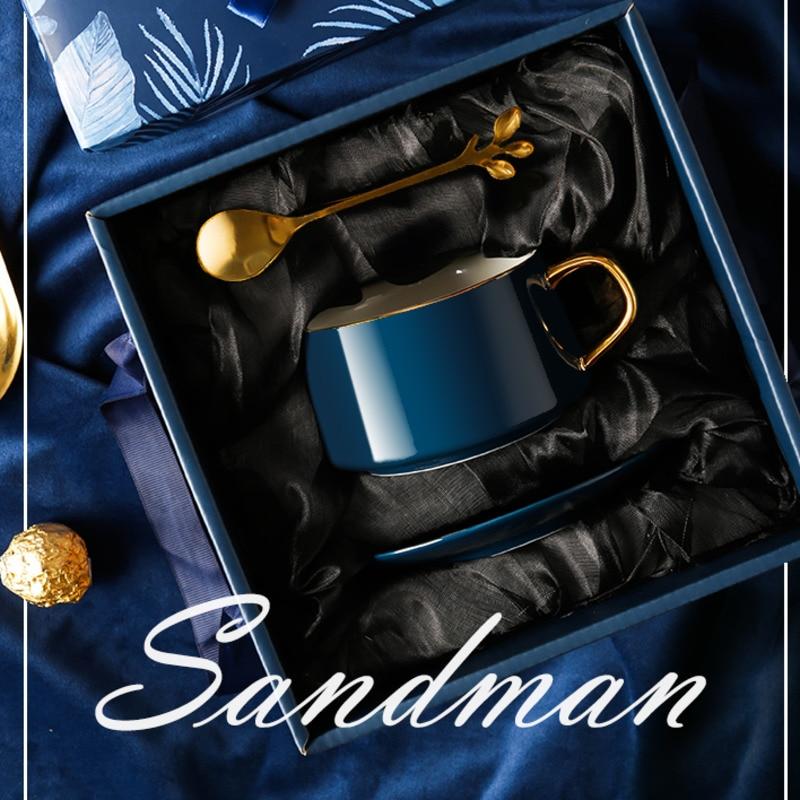 Современная подвесная кофейная чашка в европейском стиле, роскошная чашка и блюдце, изысканная керамическая чашка, домашний подарок на ден...