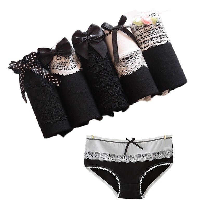 5 unids/lote las bragas de las mujeres ropa interior de algodón calzoncillos confort intimidad lencería sexy bragas de ropa interior niñas Thong Panty