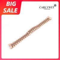carlywet 20mm 316l steel jubilee silver gold two tone wrist watch strap bracelet solid screw links curved end for rolex datejust