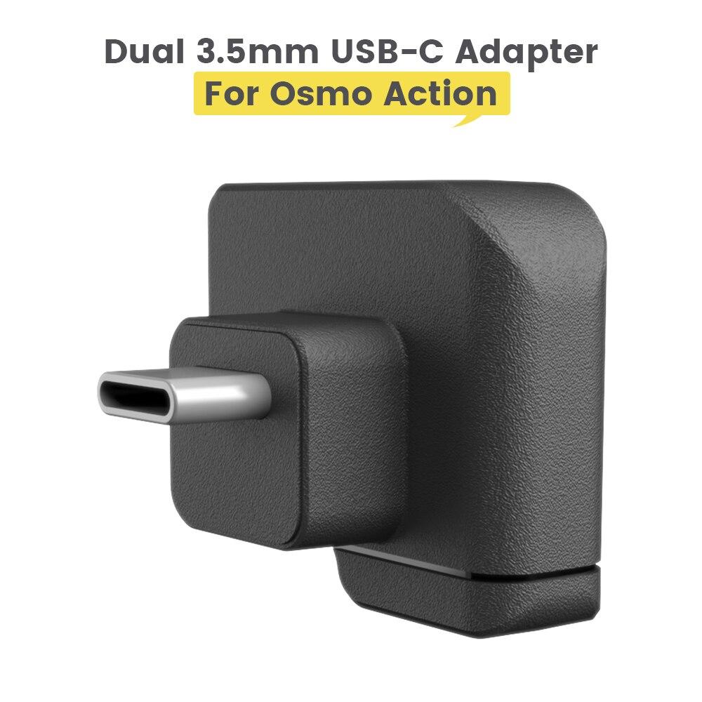 CYNOVA المزدوج 3.5 مللي متر/USB-C محول USB-C إلى 3.5 مللي متر ل OSMO عمل يعزز جودة الصوت محول المزدوج OSMO اكسسوارات