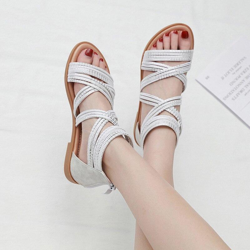 2020 delle donne di stile Romano sandali vacanza al mare mare scarpe scarpe da donna off scarpa bianca