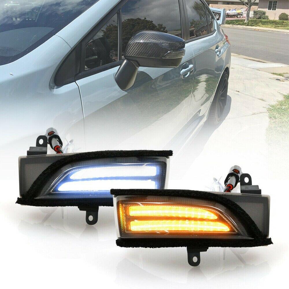 LED Dynamic Blinker Side Mirror Indicator Light For Subaru WRX STI Crosstrek Forester Outback Turn Signal Lamp Amber/White Smoke