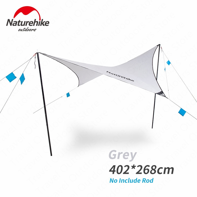 Tienda de campaña Naturehike Tarp 0,7 kg tienda de campaña turística ultraligera viaje 150D dosel impermeable PU2000mm awrining protector solar de alta calidad