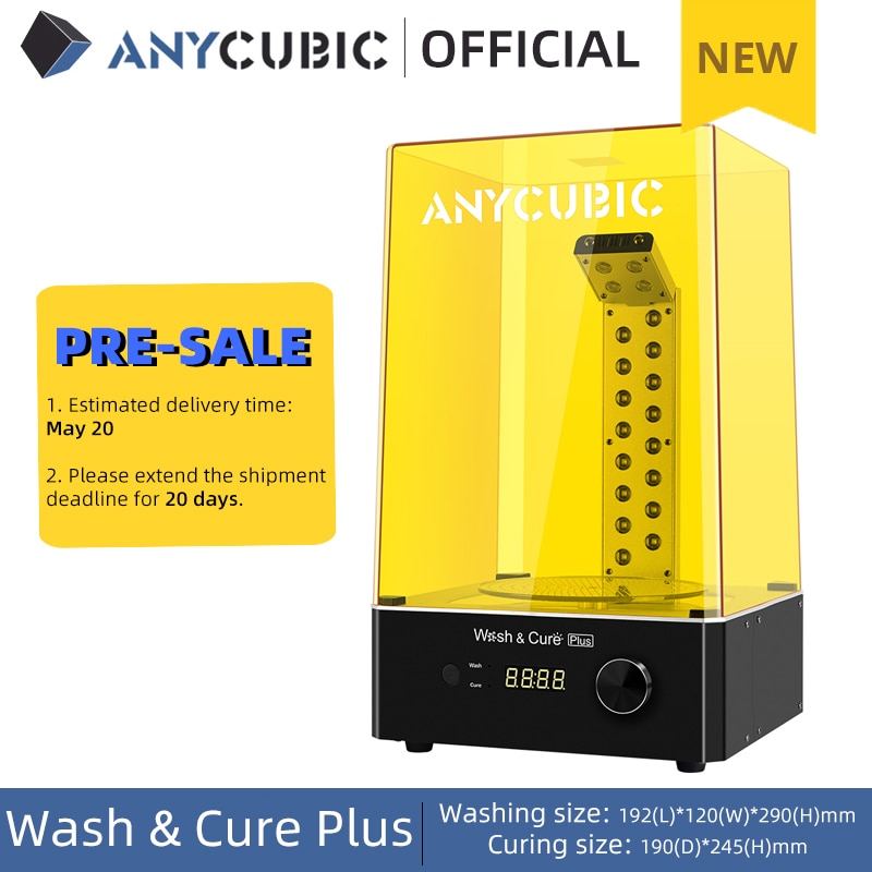 Pre-Sale ANYCUBIC Wash & Cure Plus Washing Curing 2 in 1 Machine For Mars Pro Photon Mono X LCD 3D Printer 3D Printing Models