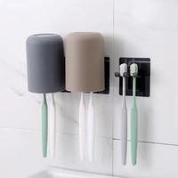 Porte-gobelet mural de salle de bain creatif et Simple  support de rangement pour tasses a eau et brosses a dents