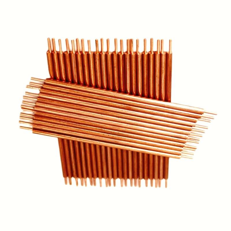 50pcs Alumina Copper Battery Welding Electrode 3x100mm Point Diameter 1.4mm