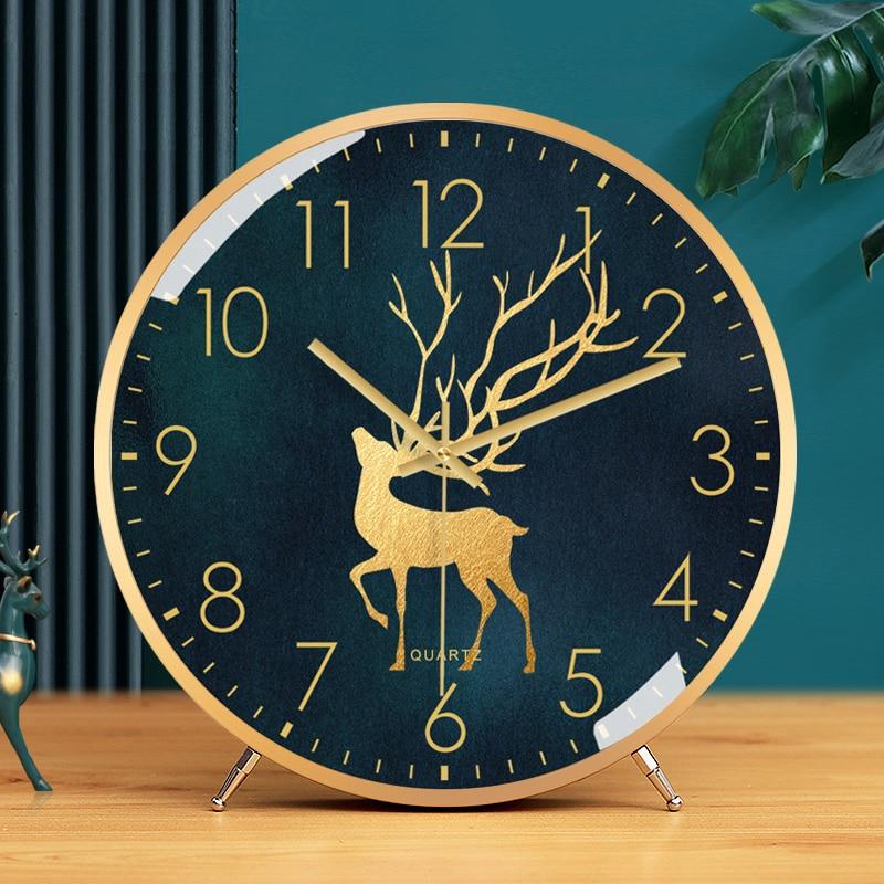Fashion Simple Table Clock Creative Living Room Luxury Silent Nordic Digital Desk Clock Bedroom Relogio De Mesa Home Decor 50