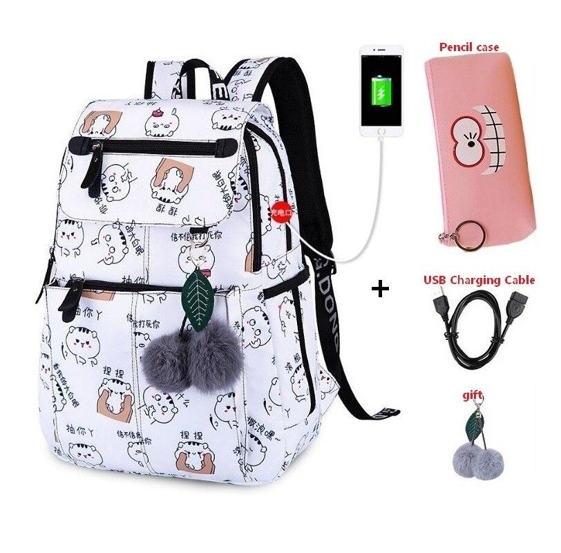 Женские Водонепроницаемые рюкзаки в студенческом стиле для девочек и ноутбуков с usb, школьные сумки для девочек, модный рюкзак rugzak meisje