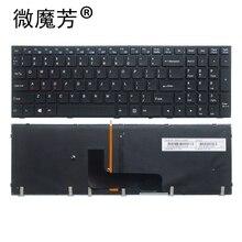 NOUS clavier dordinateur portable rétro-éclairé pour Clevo P651 P651SE P655 P671 P655SE P671SG P650HP3 P650 P670RE3 P670RG P650RE3 P650RE6 P650RG