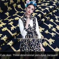 sika deer imported jacquard garment fabrics sewing fabric factories and shops are not out of stock