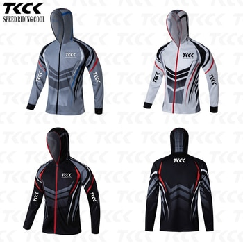 TKCK Pro fishing clothes Anti-UV outdoor quick drying ventilation sunscreen long-sleeved Cycling clothes fishing t shirt jerseys