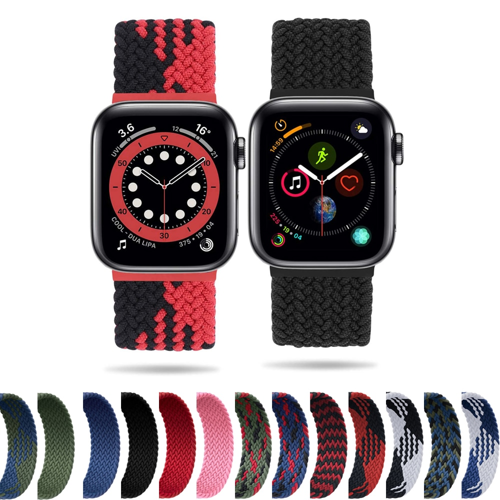 1 1 offical strap for apple watch series 6 5 se 4 braided solo loop 40mm 44mm woven watchbands for iwatch 3 2 1 38mm 42mm strap Solo Loop strap For Apple watch band 44mm 40mm iwatch band 42mm 38mm Elastic Braided nylon wristband apple watch 6/5/4/3/2/1/SE