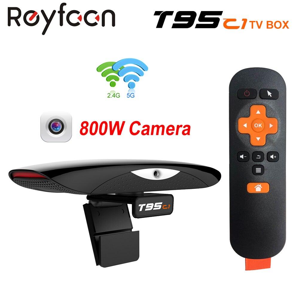 صندوق التلفزيون الذكي T95C1 ، كاميرا بكسل 800 واط ، Android 9.0 ، 2 جيجابايت ، 16 جيجابايت ، واي فاي مزدوج 5G ، 100 متر ، دعم 1080P ، HD ، مشغل الوسائط ، Youtube ، Google...
