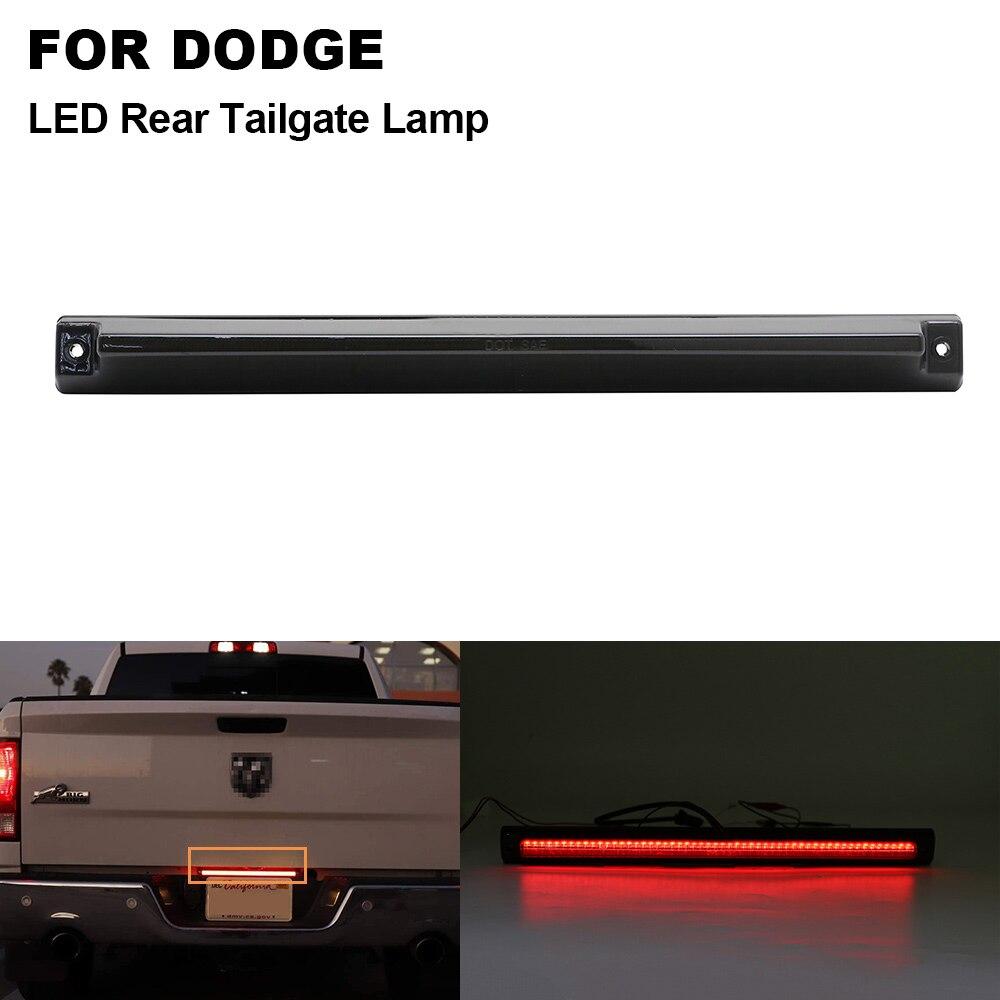 1 Uds ahumado para Dodge Ram 2500, 3500, 2006, 2007, 2008, 2009, 2010, 2011, 2012-2014-LED tercera luz estroboscópica de la luz de freno portón trasero para lámpara