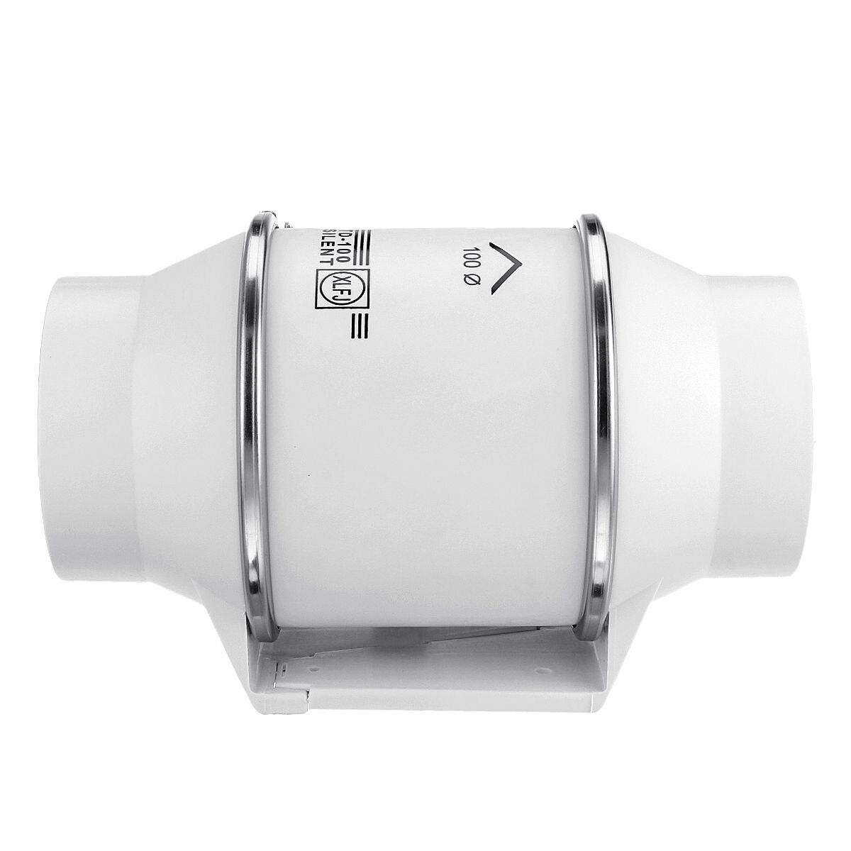 4 polegada de exaustão ventilador parede janela montável banheiro cozinha casa silencioso inline tubo duto ventilador ventilar a limpeza do ar 220v