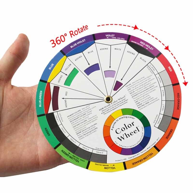 Profesional 12 Tarjeta de papel colorido tres niveles de Color de diseño de mezcla de orientación ronda círculo central gira tatuaje de pigmento