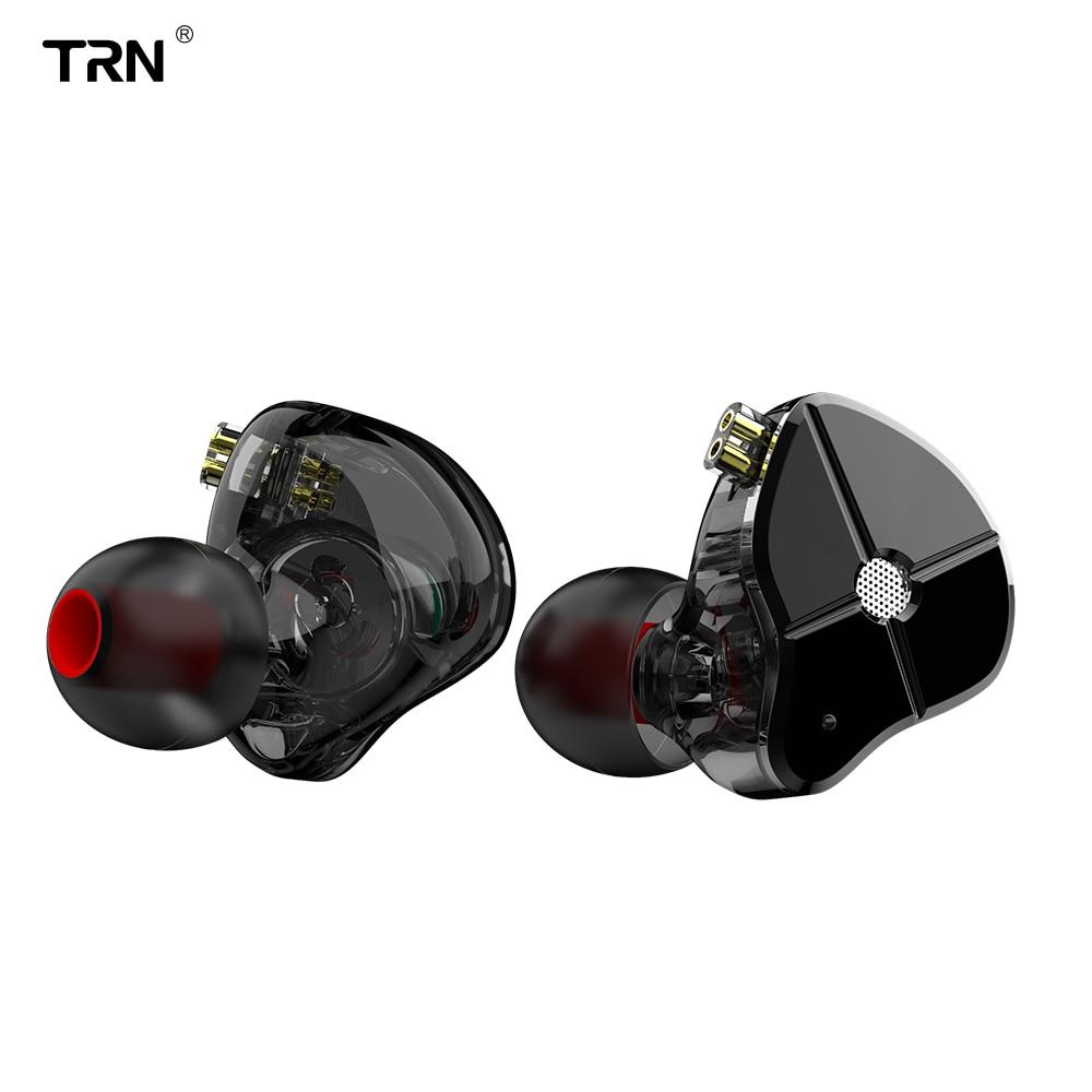 TRN ST1 1DD + 1BA Hybrid In Ohr Kopfhörer HIFI DJ Monitor Laufen Sport Kopfhörer Ohrstöpsel Headset Mit 2PIN Abnehmbare TRN V80 BA5