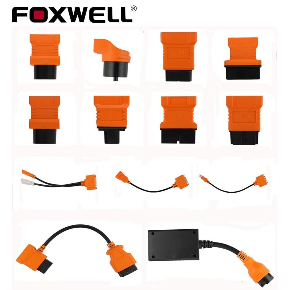Foxwell original obd obd2 cabo para bmw 20pin odb2 conector para benz 38pin para toyota 22pin para nt644 nt650 nt624 elite gt60