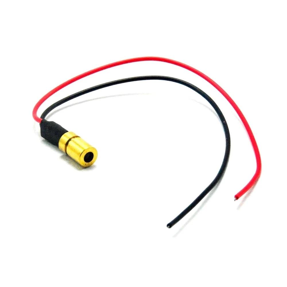 3шт% 2Flot Mini Регулируемый 3mw-5mw 635nm Orange Red Laser Module Focus Dot 3V