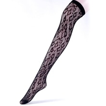 New Fishnet Floral Hosiery Patterned Stockings,BLACK Leg Avenue STOCKINGS  Thigh High Stocking Stage