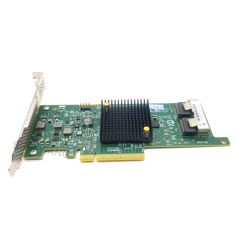 الأصلي أصيلة ل LSI SAS 9217-8i SAS2308 8-ميناء 6 جيجابايت/ثانية SAS + SATA PCI اكسبرس 3.0 المضيف حافلة محول سنة واحدة الضمان