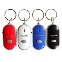 Mini sifflet Anti perte de clé alarme portefeuille traqueur pour animaux de compagnie intelligent clignotant bip localisateur à distance porte-clés traceur clés trouveur + LED