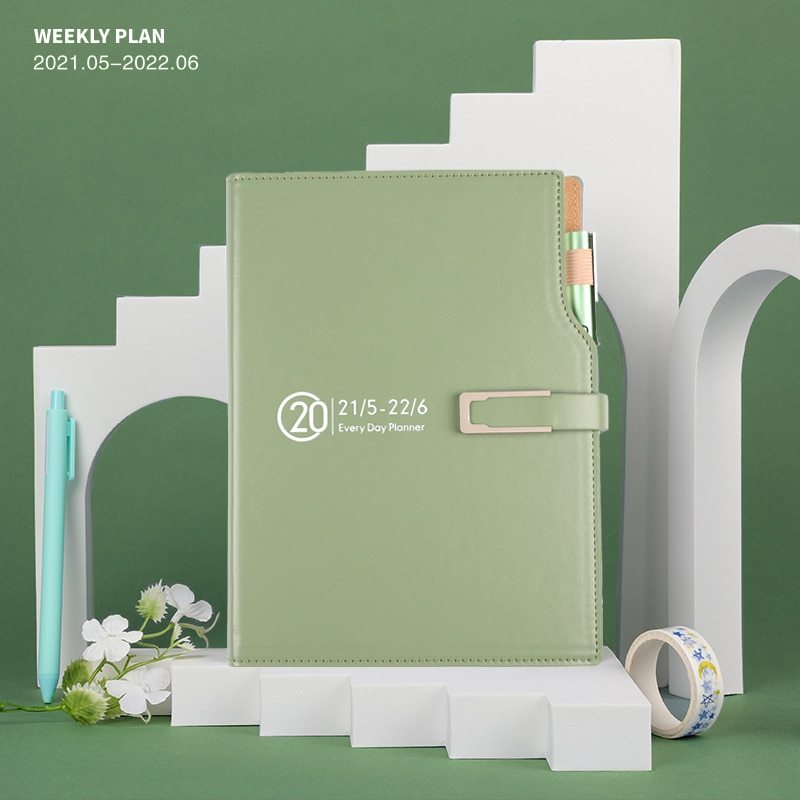 2021 New A5 Creative Diary Notebook Daily Life Planner Blank Page Memo Book Hardcover Business Office Stationery Journal Notepad