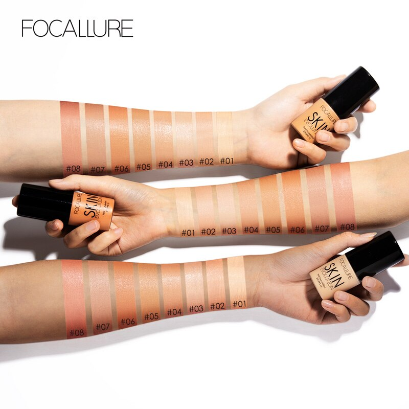 Focallure fundação maquiagem rosto controle de óleo à prova dwaterproof água creme líquido corretivo pele cor mudando cosméticos