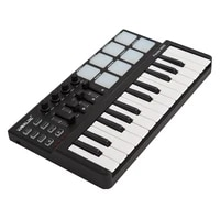 worlde pandamini midi keyboard midi piano keyboard drum mini 25 key usb keyboard and drum pad midi controller 2 style