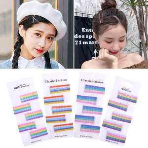 50Pcs/Set Candy Color Hairpins For Women Hair Clip Lady Bobby Pins Invisible Wave Hairgrip Barrettes Decorative Hair Accessories