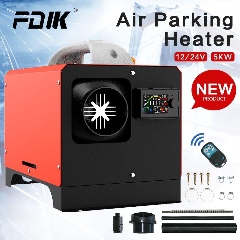 FDIK tout en un réchauffeur diesel 24V 5KW LCD pour Garage similaire Websato Eberspacher ventilateur de chauffage Air parking chauffage coquille auxiliaire