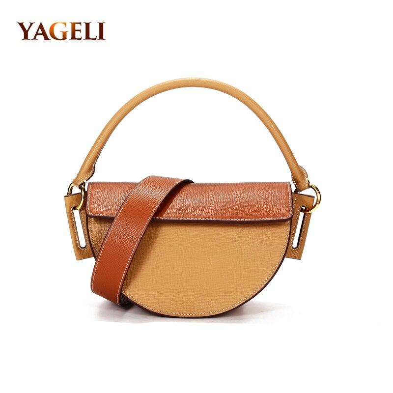 حقيبة يد جلدية أصلية للنساء ، حقيبة كتف فاخرة ، حقيبة مصممة ، عصرية ، 2020