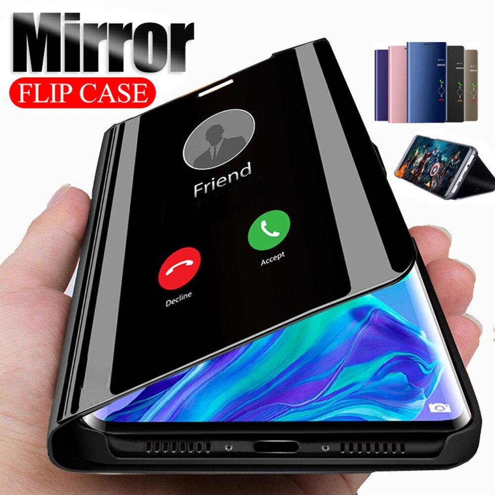 Smart Mirror Flip Case For Samsung Galaxy A51 A71 A10 A40 S20 S8 S9 S10 A50 A70 A31 A21 Note10 20 8