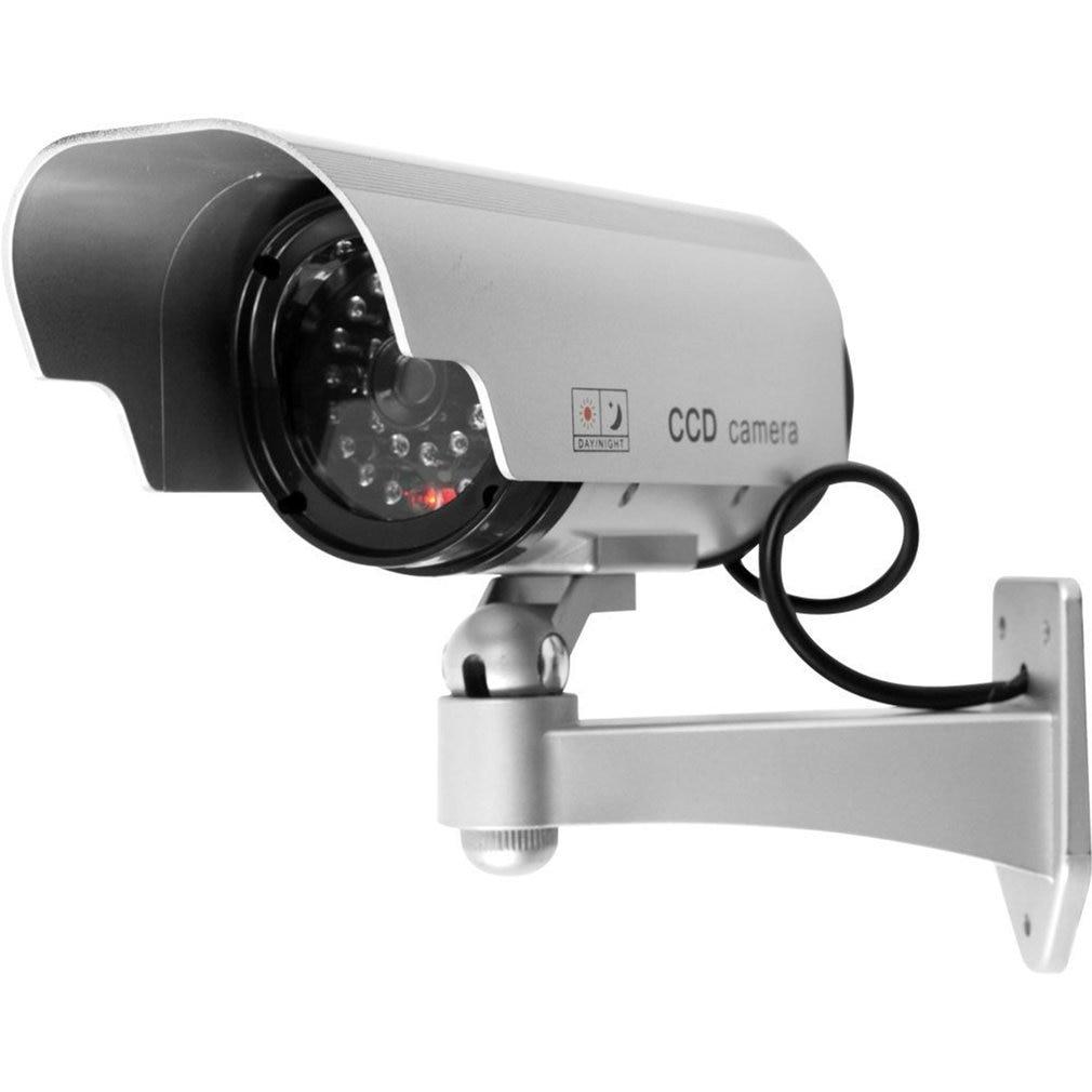 Solar Power LED CCTV Camera Fake Security Outdoor Dummy Surveillance