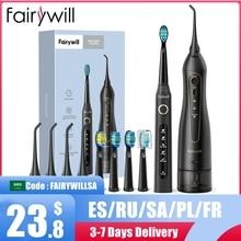 Fairywill Wasser Flossers für Zähne 300ML Munddusche Wiederaufladbare Tragbare Dental 3 Modi Wasser Tank Wasserdicht Zähne Reiniger