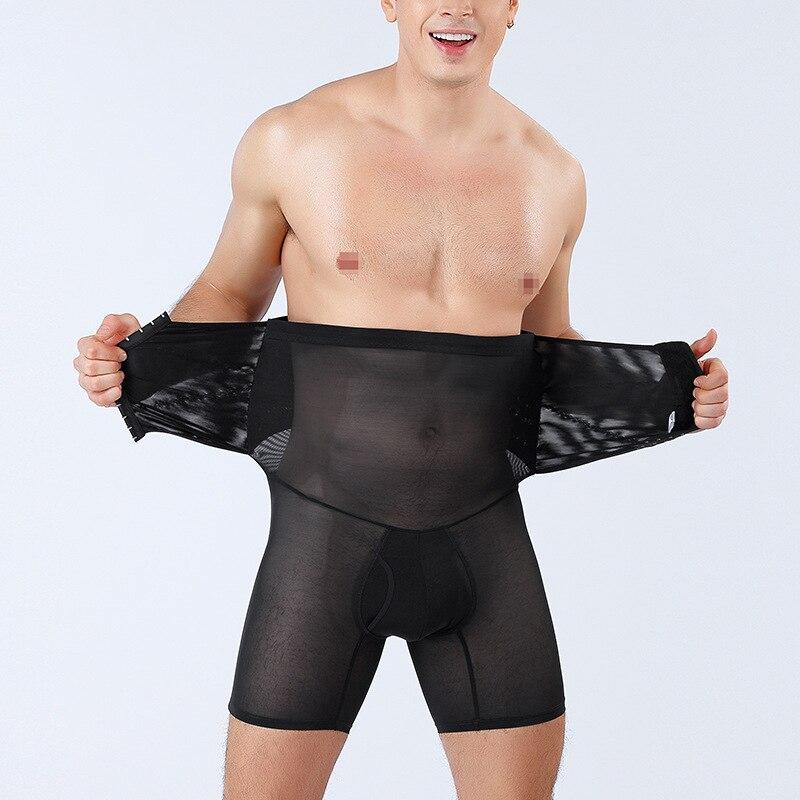 Calcinha masculina corpo shaper controle barriga cinta roupa interior emagrecimento abdômen barriga trimmer