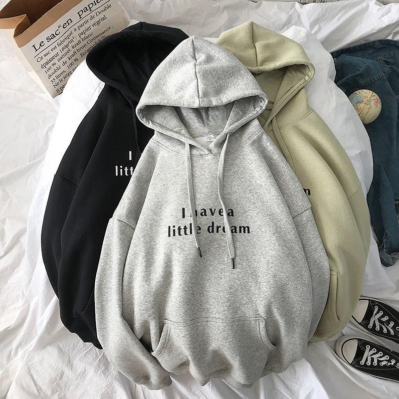 Korean Women's Hooded Sweatshirt Harajuku Letter Printing Women's Super Large New Versatile Trend Wi