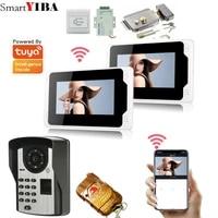 tuya app smart ip video intercom wifi video door phone door bell wifi doorbell camera motion detection alarm