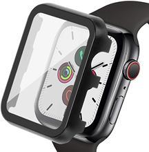Boîtier en métal 44mm 40mm pour Apple Watch 5 protecteur décran anti-rayures film trempé verre pour iWatch série 4 3 2 1 42mm 38mm