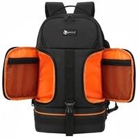 video waterproof camera shoulders backpack w reflector stripe fit 15 6 inch latptop shockproof soft padded tripod case photo bag