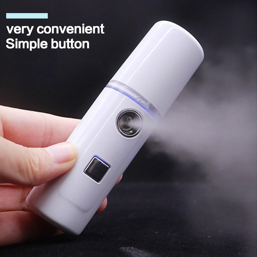 Face Stream Beauty Spray Hand-held Water Machine Moisturizing Nano Ionic Mist Face Humidifier Sauna Facial Pore Cleansing Tool недорого