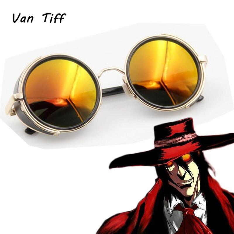 Anime HELLSING Alucard vampiro Hunter gafas para Cosplay gafas naranja accesorios de disfraces Prop regalo Halloween carnaval fiesta
