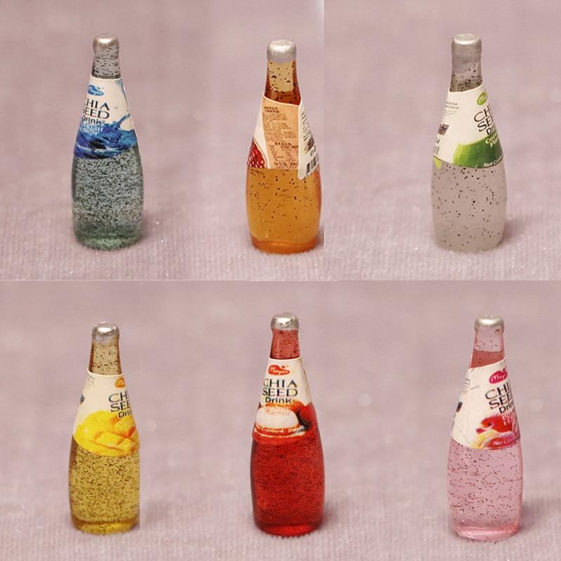 1:12 Dollhouse Miniature Resin Vodka Bottle Figures Parts Wine Glass Decor Simulation Kitchen Bar Drink Model Accessories Toys